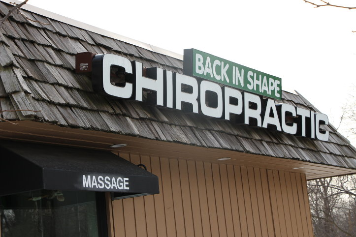Front Sign Back in Shape Chiropractic