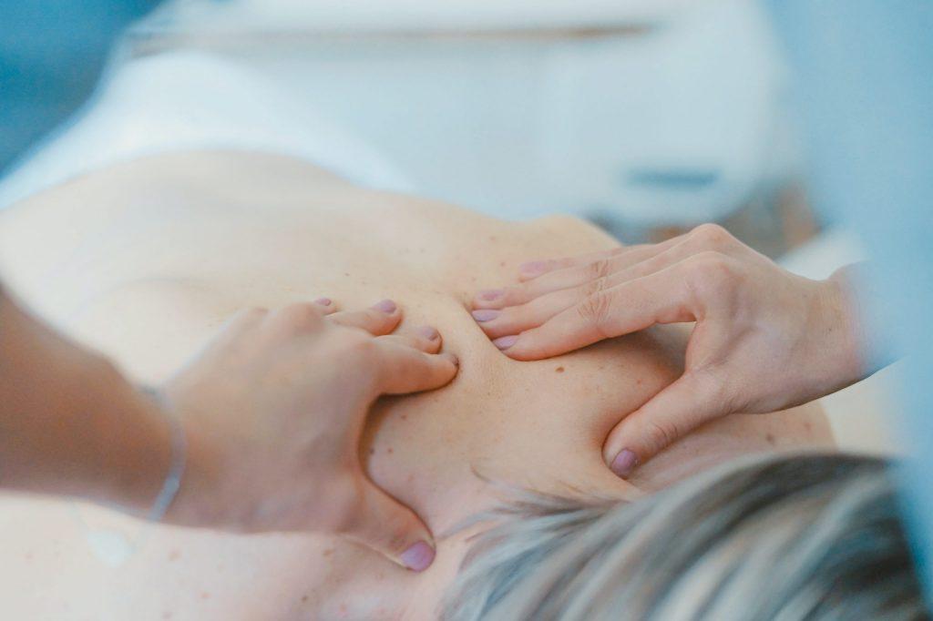 someone being massaged